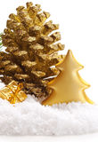 Golden Christmas decoration. Stock Images