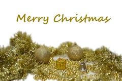 Golden Christmas decoration. Royalty Free Stock Photos