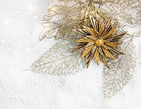 Golden Christmas Decoration Royalty Free Stock Photography
