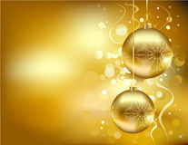 Golden Christmas decorations royalty free illustration
