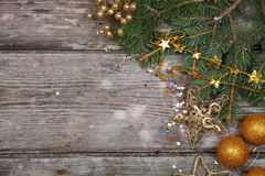 Golden Christmas decorations Royalty Free Stock Photography