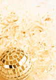 Golden Christmas decorations Royalty Free Stock Photo