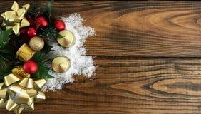Christmas background decoration on dark wooden board. Photo image stock photos