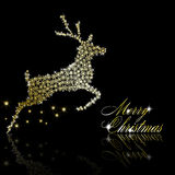Golden Christmas  deer Stock Image