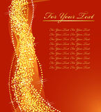 Golden Christmas design. Stock Photo