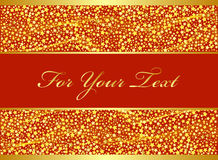 Golden Christmas design. Royalty Free Stock Photography