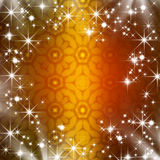 Golden christmas frame Royalty Free Stock Photography