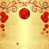 Golden christmas frame Royalty Free Stock Photos