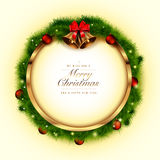 Golden Christmas frame royalty free stock images