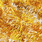 Golden christmas garland Royalty Free Stock Photo