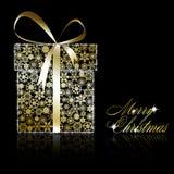 Golden Christmas gift bpx Royalty Free Stock Photos