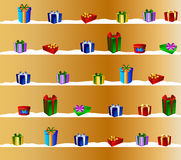 Golden Christmas Gift Certificate Stock Photography