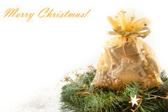 Golden christmas gifts Royalty Free Stock Images