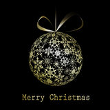 Golden Christmas greeting card Stock Photo