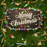 Golden Christmas greeting. EPS 10 Royalty Free Stock Photography