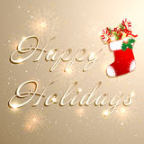 Golden Christmas Holidays Background Royalty Free Stock Photo
