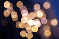 Golden christmas lights Stock Image