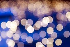 Golden christmas lights stock image