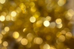 Golden christmas lights Stock Photo