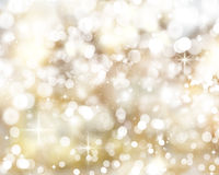 Golden Christmas lights Background Royalty Free Stock Photo