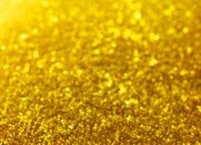 Golden christmas lights background Stock Photo