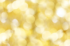 Golden christmas lights background Stock Images