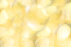 Golden christmas lights background Stock Image