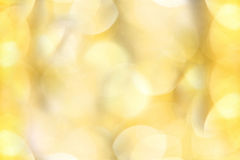 Golden christmas lights background Royalty Free Stock Photography