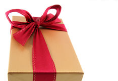 Golden Christmas Present Royalty Free Stock Images
