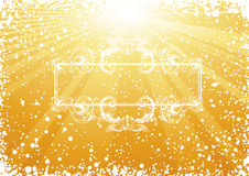Golden Christmas Renaissance frame Stock Photos