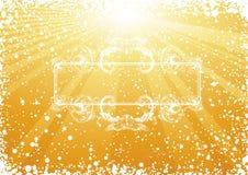 Golden Christmas Renaissance frame. Illustration, AI file included Stock Photos