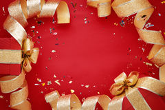 Golden Christmas ribbon Royalty Free Stock Image