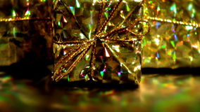 Golden Christmas stock footage