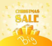 Golden christmas sale Stock Image