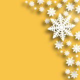 Golden Christmas snowflake background Royalty Free Stock Photo