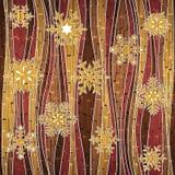 Golden Christmas snowflakes - seamless background - wallpaper Stock Photos
