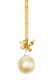 Golden Christmas Sphere Royalty Free Stock Photography