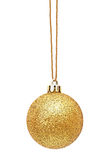 Golden Christmas sphere Royalty Free Stock Images
