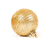 Golden Christmas spheres Stock Photos