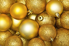 Golden Christmas spheres Royalty Free Stock Photography