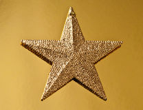 Golden christmas star Royalty Free Stock Image