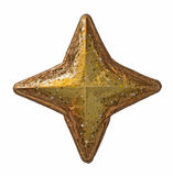 Golden Christmas star Stock Images