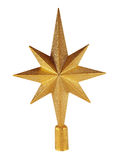 Golden Christmas Star Stock Photography