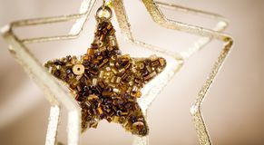 Golden Christmas star Stock Photo