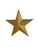Golden Christmas Star. Isolated on white stock images