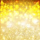 Golden Christmas star background Fire Royalty Free Stock Photos