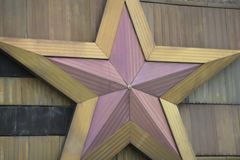 Golden Christmas Star. Close-Up render and clipping path.  royalty free stock photos
