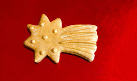 Golden Christmas star cookie Royalty Free Stock Photos