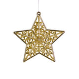 Golden Christmas Star Decoration Royalty Free Stock Photo