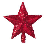 Golden Christmas star decoration Stock Images